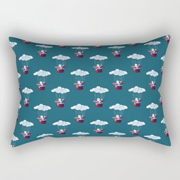 Traveler Cat Pattern Rectangular Pillow