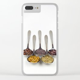 Curry Spices Clear iPhone Case