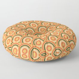 Abstract Modern Concentric Circles Texture Floor Pillow