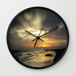Sanibel Sunset Wall Clock