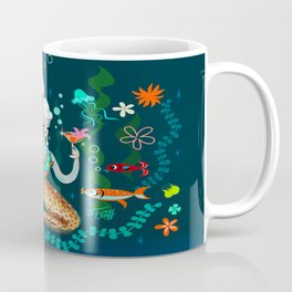 Blonde Leopard Martini Mermaid Coffee Mug