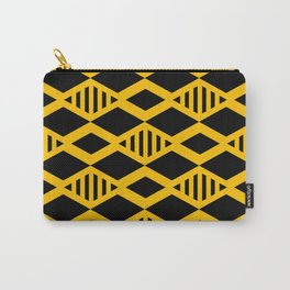 Black and Yellow geometric background #society6 #decor #buyart #artprint Carry-All Pouch