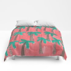 Dreamy Palm Trees Comforters