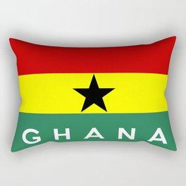 ghana country flag name text Rectangular Pillow