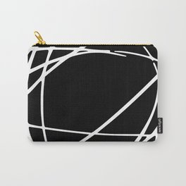 Black and White Circles and Swirls Modern Abstract Carry-All Pouch