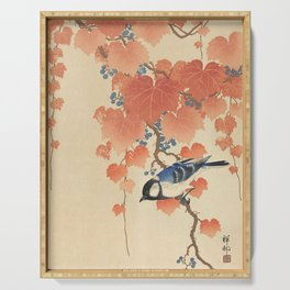 Ohara Koson - Japanese Bird Blockprint Serving Tray