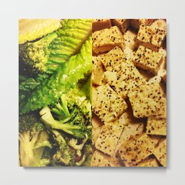 Greens & Proteins Metal Print