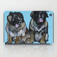 simba iPad Cases featuring Simba and Snuffaluffagus the Leonbergers by Pawblo Picasso