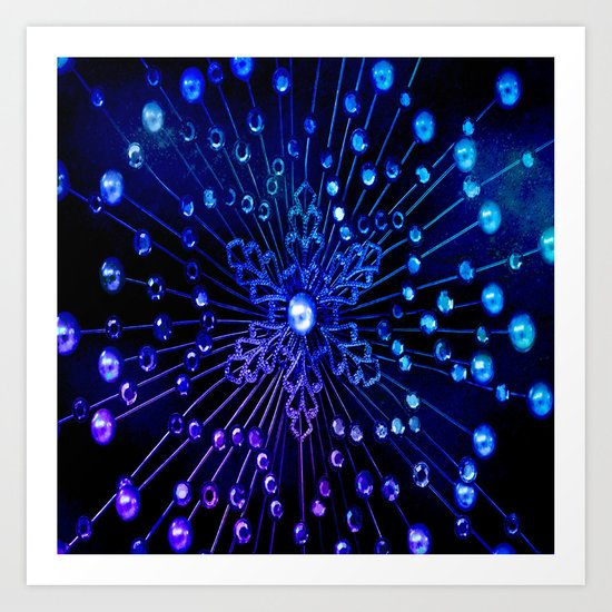 Supernova Brights- Blue Art Print