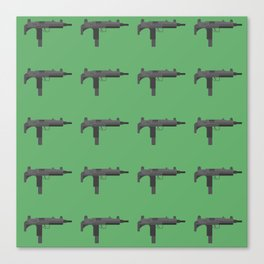 Uzi submachine gun Canvas Print