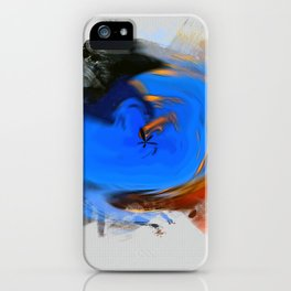 """Abstract Sunset"" Print iPhone Case"