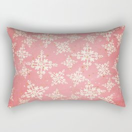 Red and Gold Snowflakes 1 Rectangular Pillow