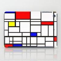 mondrian iPad Cases featuring Mondrian inspired by Steve W Schwartz Art