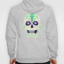 Sugar Skull with Jeweled Eyes Hoody