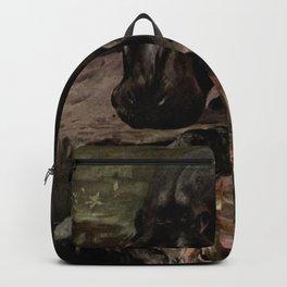 Vintage Hippopotamus Painting (1909) Backpack