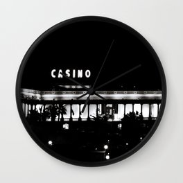 Casino at Night Wall Clock