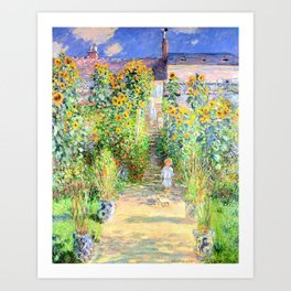 Monets Garden at Vetheuil Art Print