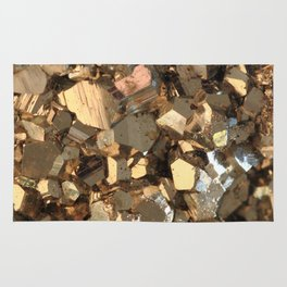 Golden Pyrite Mineral Rug