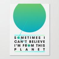 planet Canvas Prints featuring Planet by Matt Hunsberger