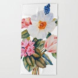 Loose Spring Bouquet Beach Towel
