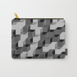 Pixel Cube - Black Silver Carry-All Pouch
