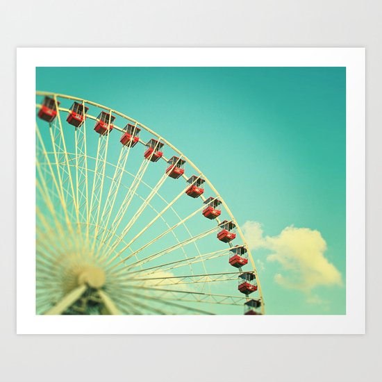 Summer at Navy Pier Art Print