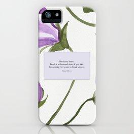 Break my heart. Maxon Schreave. The Selection. iPhone Case