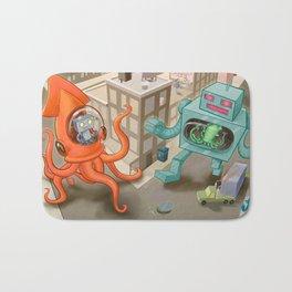 Squid vs Robot Bath Mat