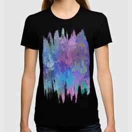 Modern grunge digitally painted abstract T-shirt
