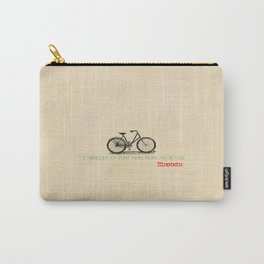 I Thought Of That While Riding My Bicycle Einstein Carry-All Pouch