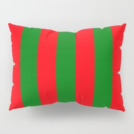 Wide Red and Green Christmas Cabana Stripes Pillow Sham