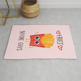 Fries Before Guys, Funny, Cute, Quote Rug