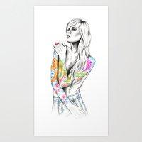 phoenix Art Prints featuring Phoenix by 13 Styx