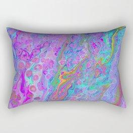Pink Turquoise Pour Rectangular Pillow