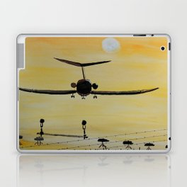 Yellow last flight Laptop & iPad Skin