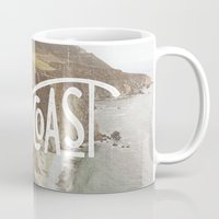 west coast Mugs featuring West Coast by cabin supply co