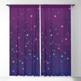 Bi Pride Flag Galaxy Blackout Curtain