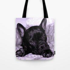 Purple Frenchie Tote Bag