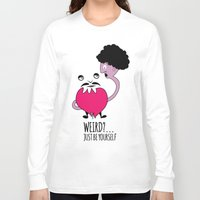 weird Long Sleeve T-shirts featuring weird by Wildu