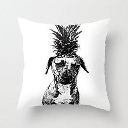 Pineapple Pup Throw Pillow