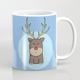 Cute Kawaii Christmas Reindeer Coffee Mug
