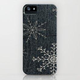 Denim Snowflake iPhone Case