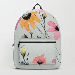 Grey floral garden Backpack