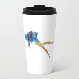 Man scuba diver 01 in watercolor Travel Mug