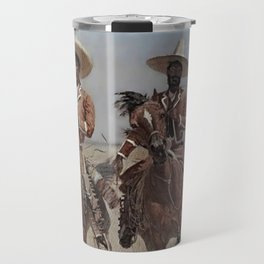 "Frederic Remington Western Art ""Mexican Riders"" Travel Mug"
