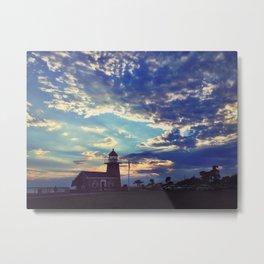Santa Cruz Sunset Metal Print
