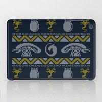 xenomorph iPad Cases featuring A Christmas Bug Hunt by Stationjack