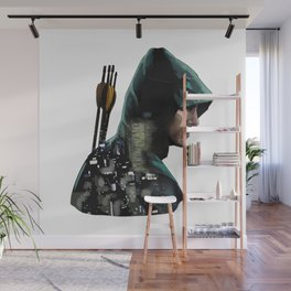 Green Arrow + Star City Wall Mural