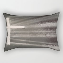 Light Shines Through Darkness Rectangular Pillow