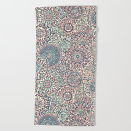 Mandala (Floral 002) Beach Towel